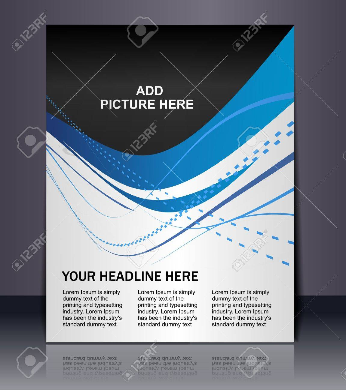 Poster design vector - Poster Design Vector Editable Presentation Of Flyerposter Design Content Background
