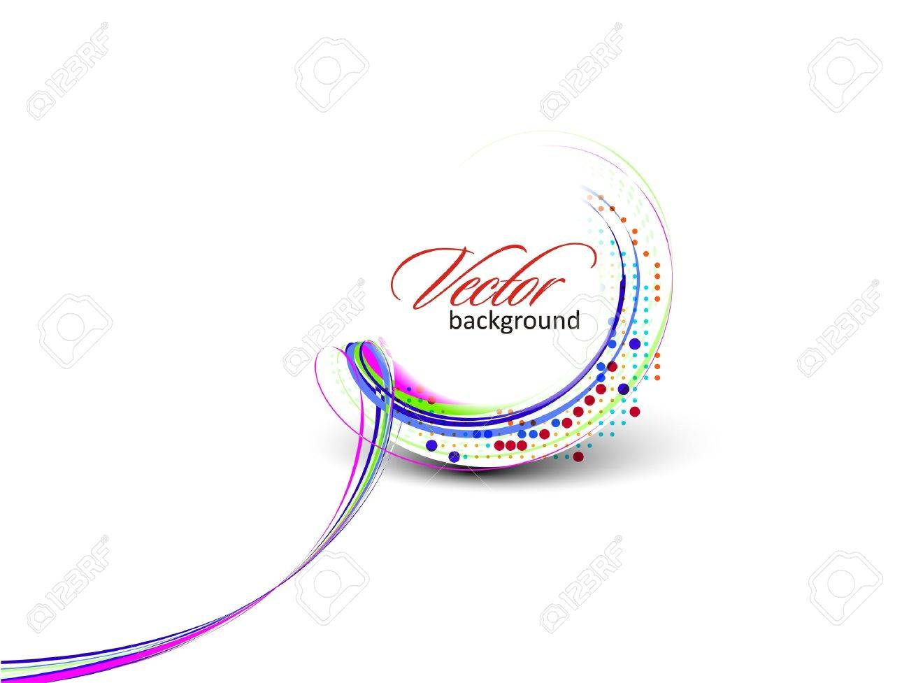 Abstract colorful circle banner for your text. Vector design. Stock Vector - 10054851