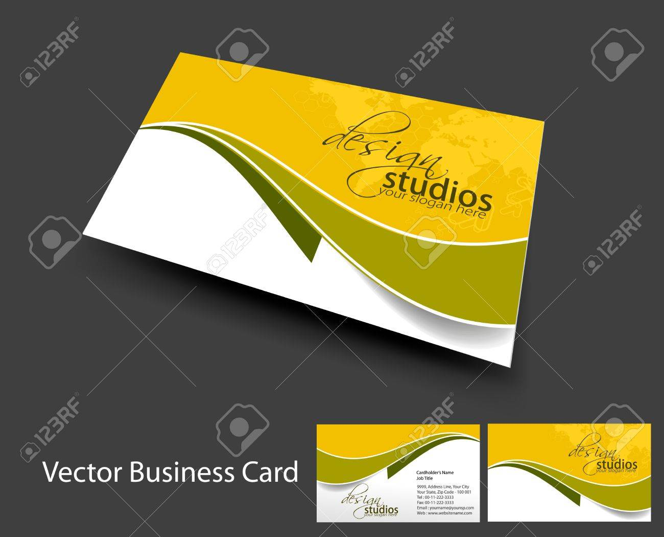 vector business card set , elements for design. Stock Vector - 10055208