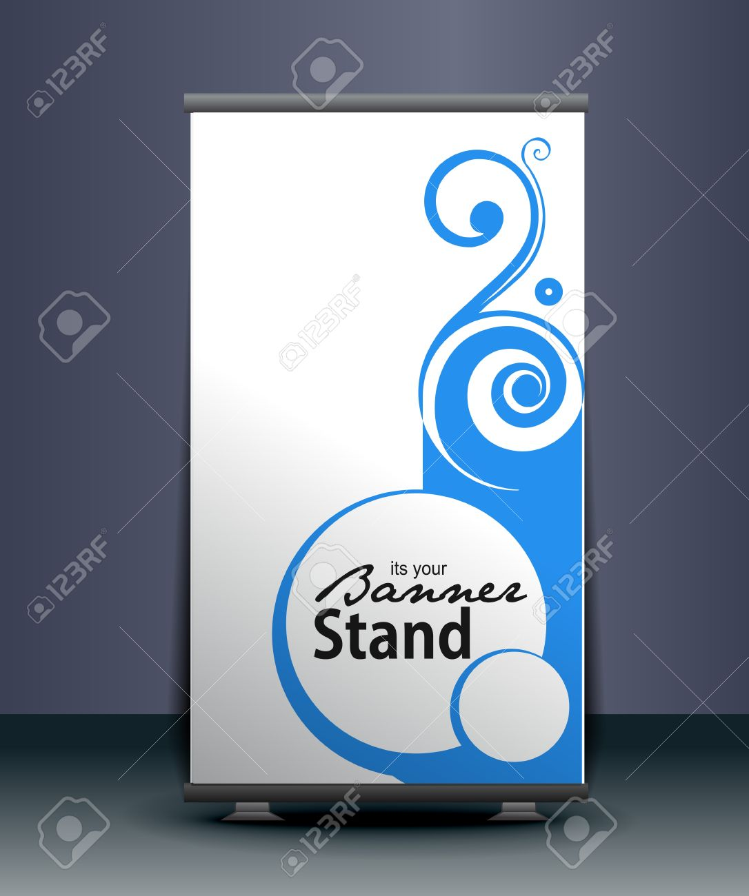 Design vector banner - A Roll Up Display With Stand Banner Template Design Vector Illustration Stock Vector