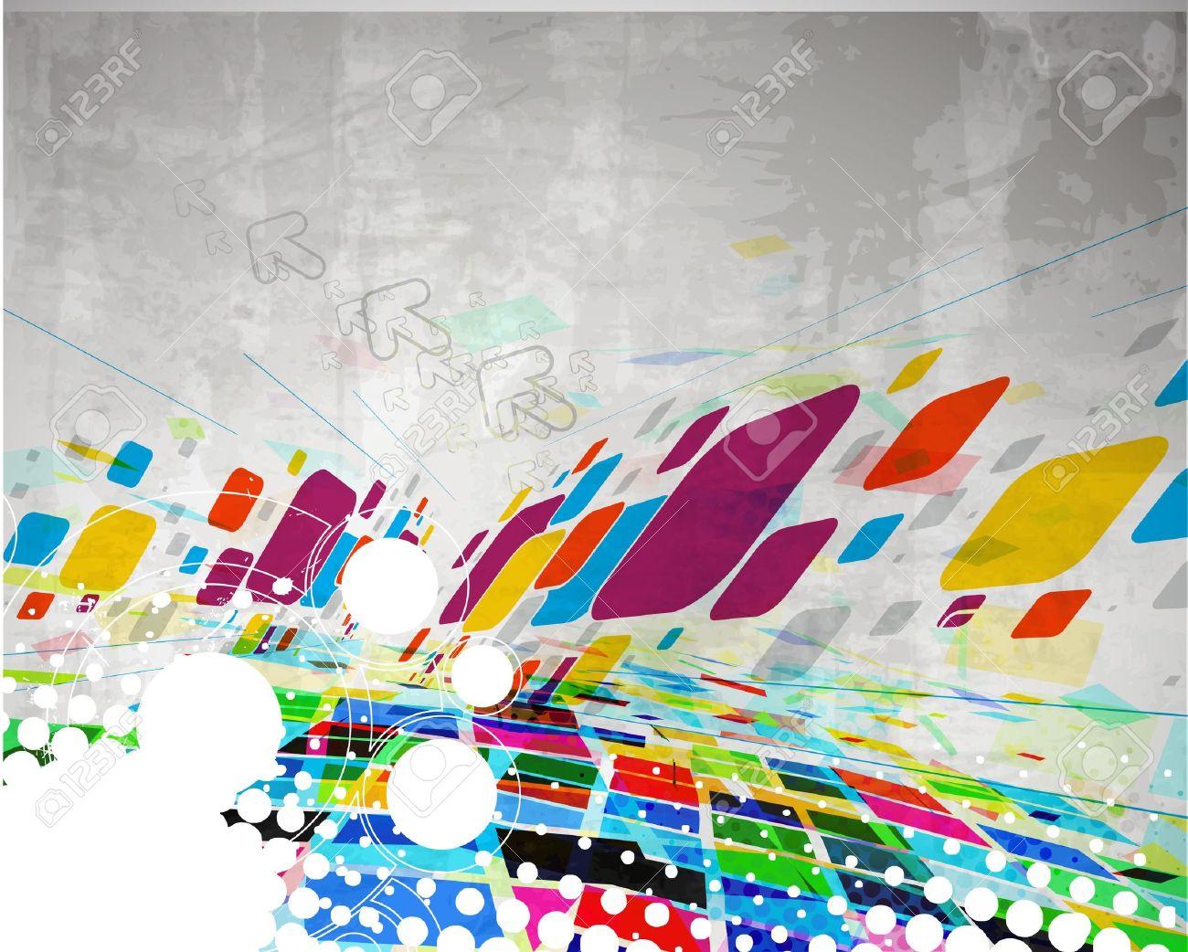 multicolor grunge pattern background a vintage poster design