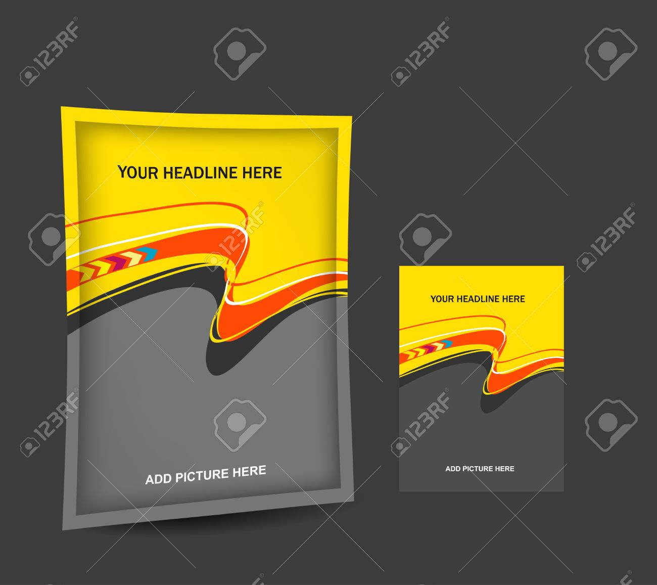Abstract Design For Packaging , Vector For Bag Template Design ...