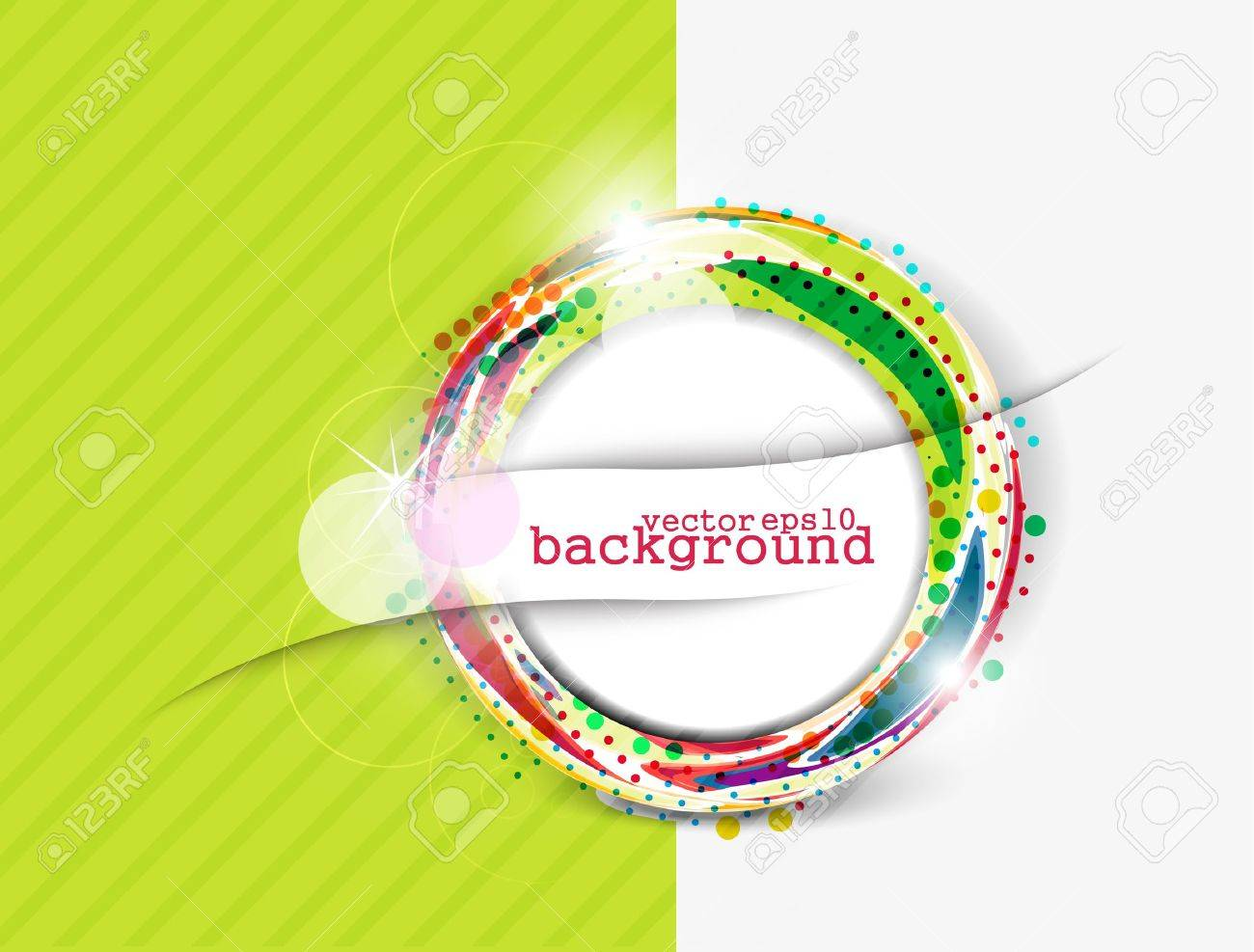 Abstract colorful circle banner for your text. Vector design. - 10510348