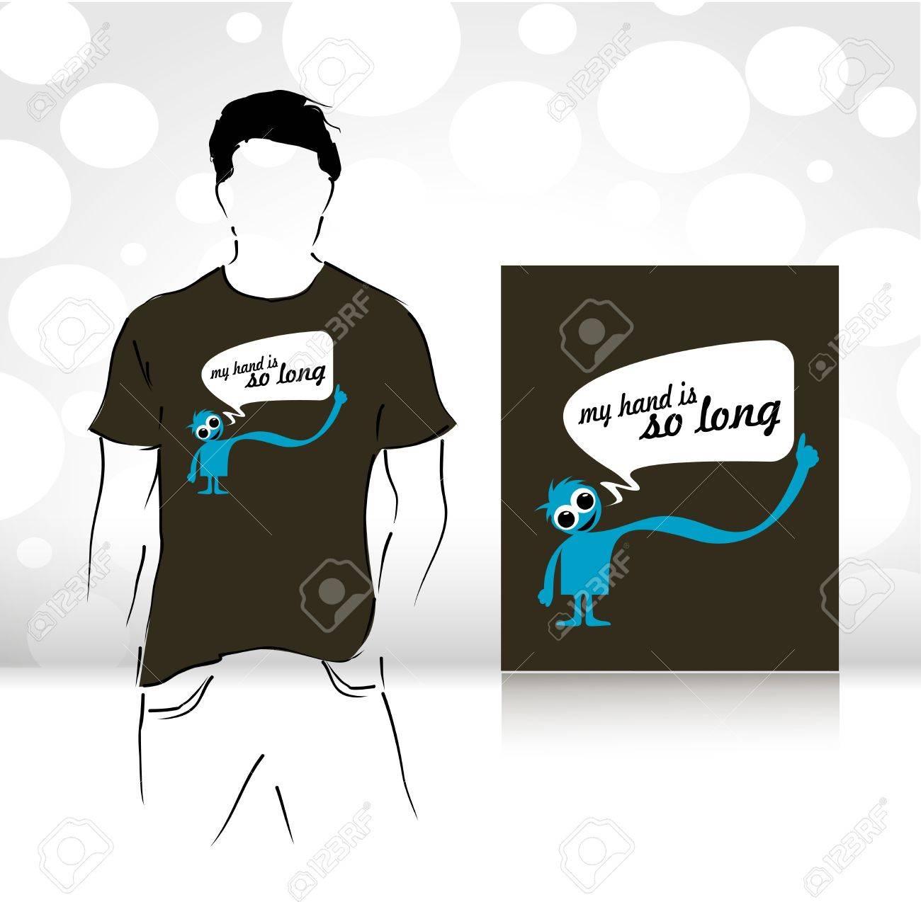 Shirt design illustrator template - T Shirt Design Template Editable Vector Illustration Stock Vector 10510302