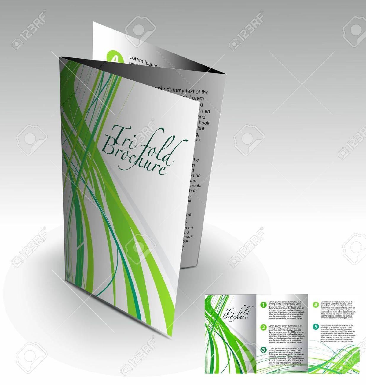 Tri-fold brochure design element, best used for your project. Stock Vector - 10510343