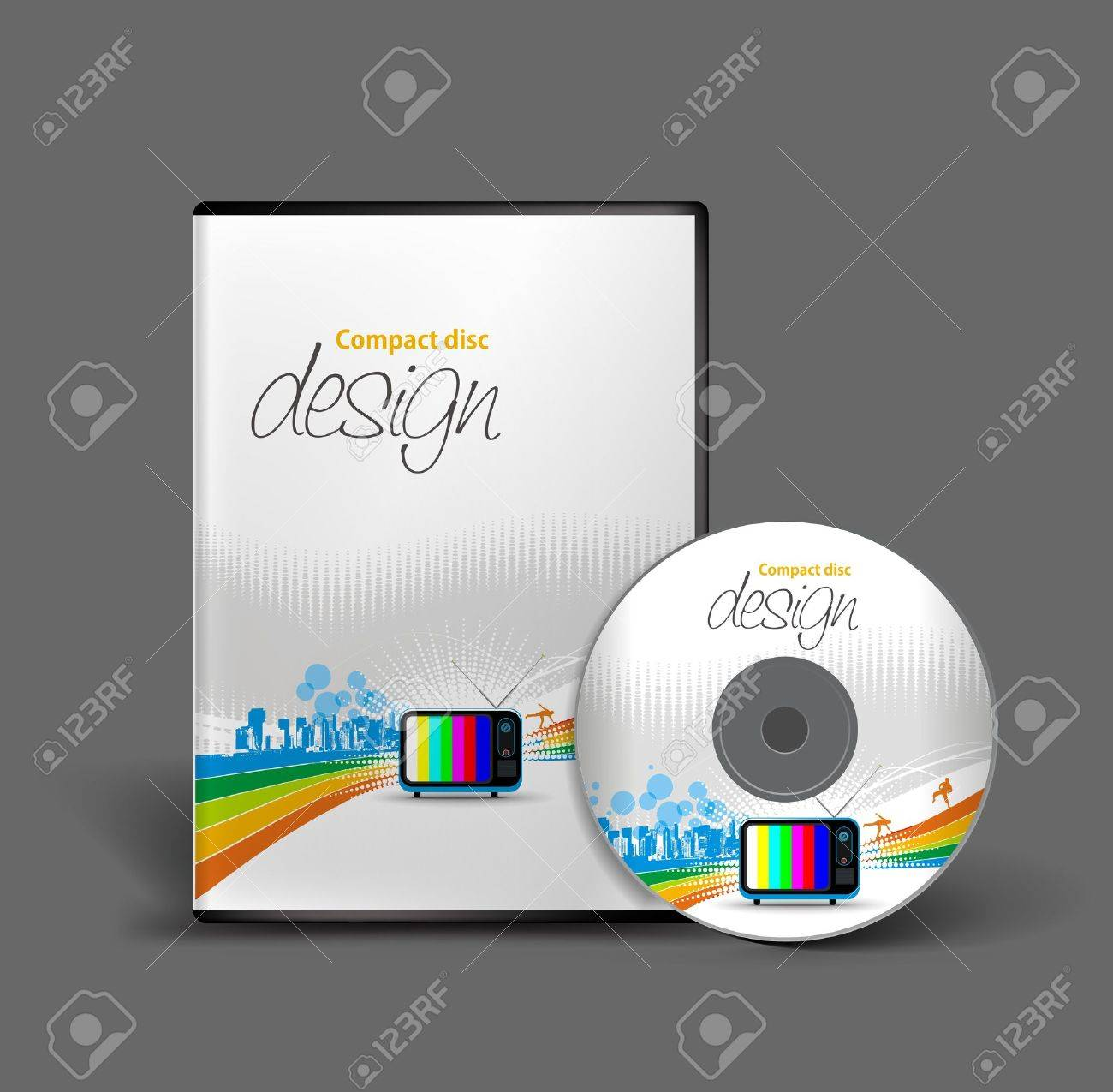 Cd cover design template with copy space. Stock Vector - 11193921