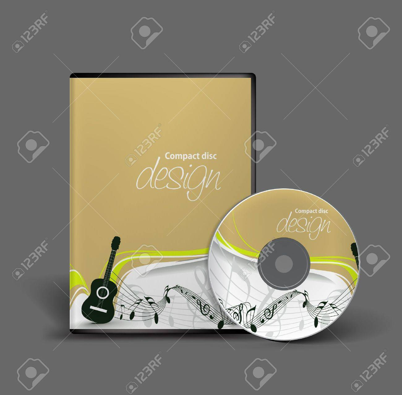 Cd box template download free vector art stock graphics amp images - Music Box Cd Cover Design Template With Copy Space