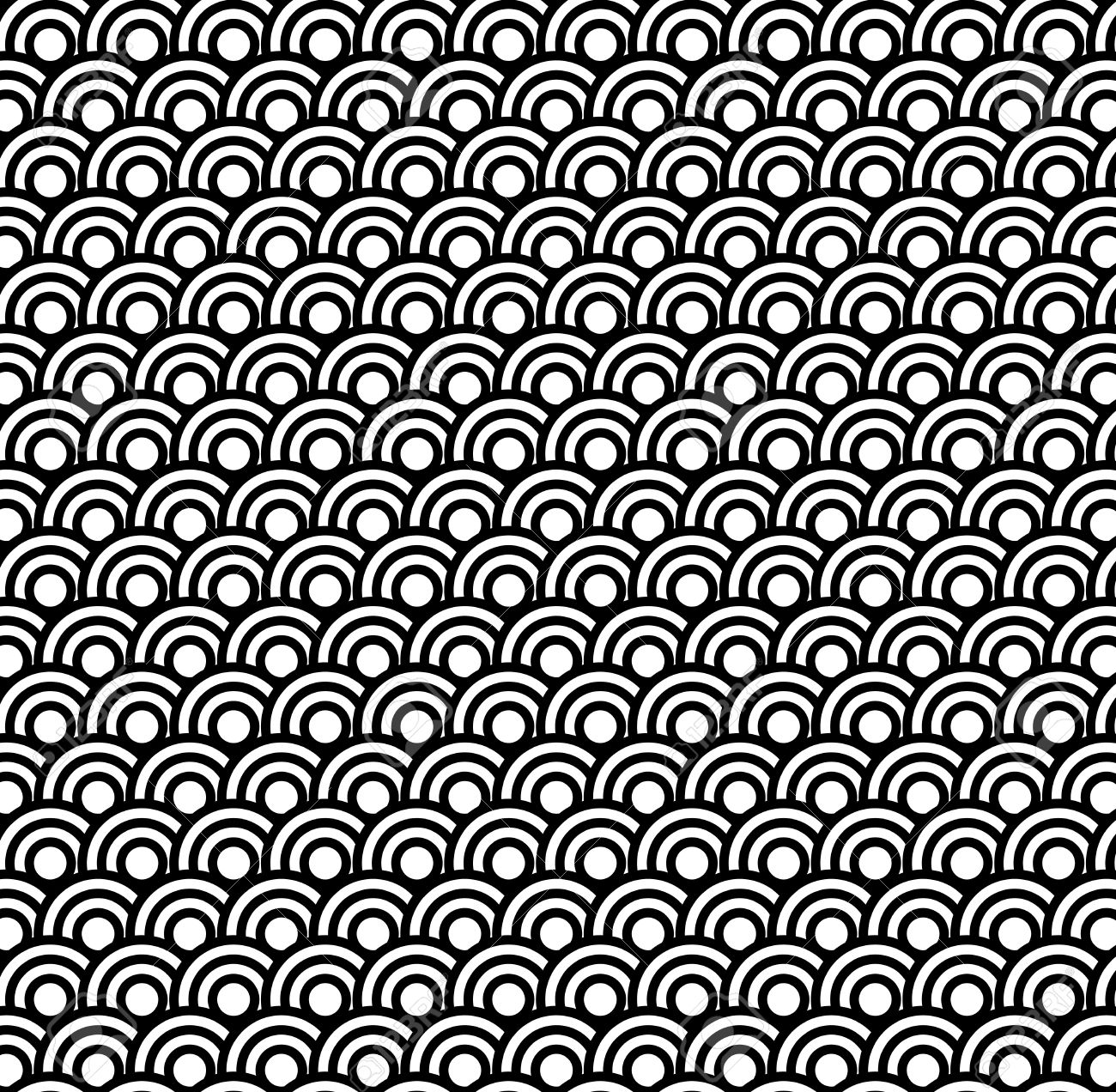 Retro black and white seamless circle pattern background Stock Vector - 11193942