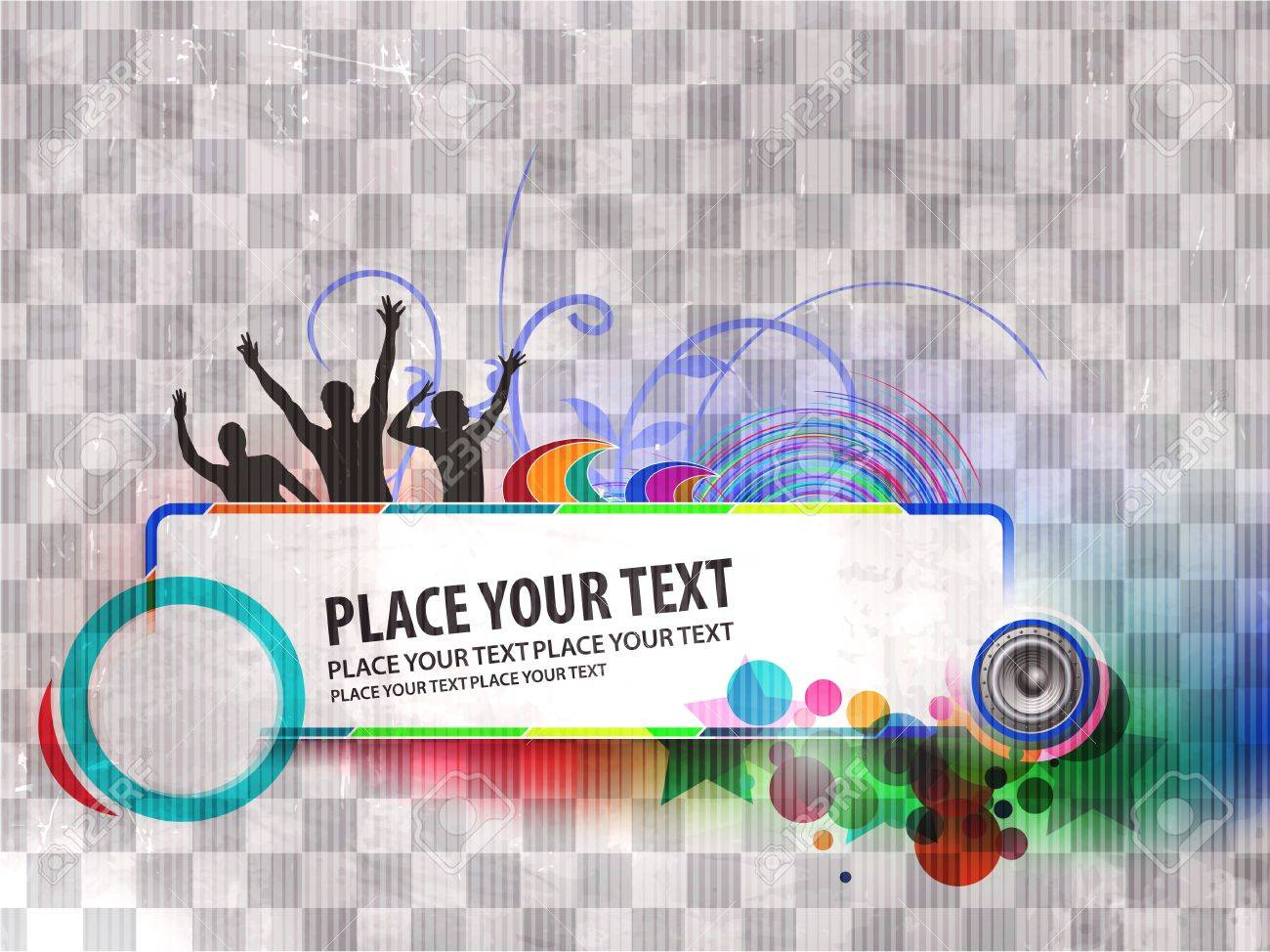 abstract urban music danace party banner background design