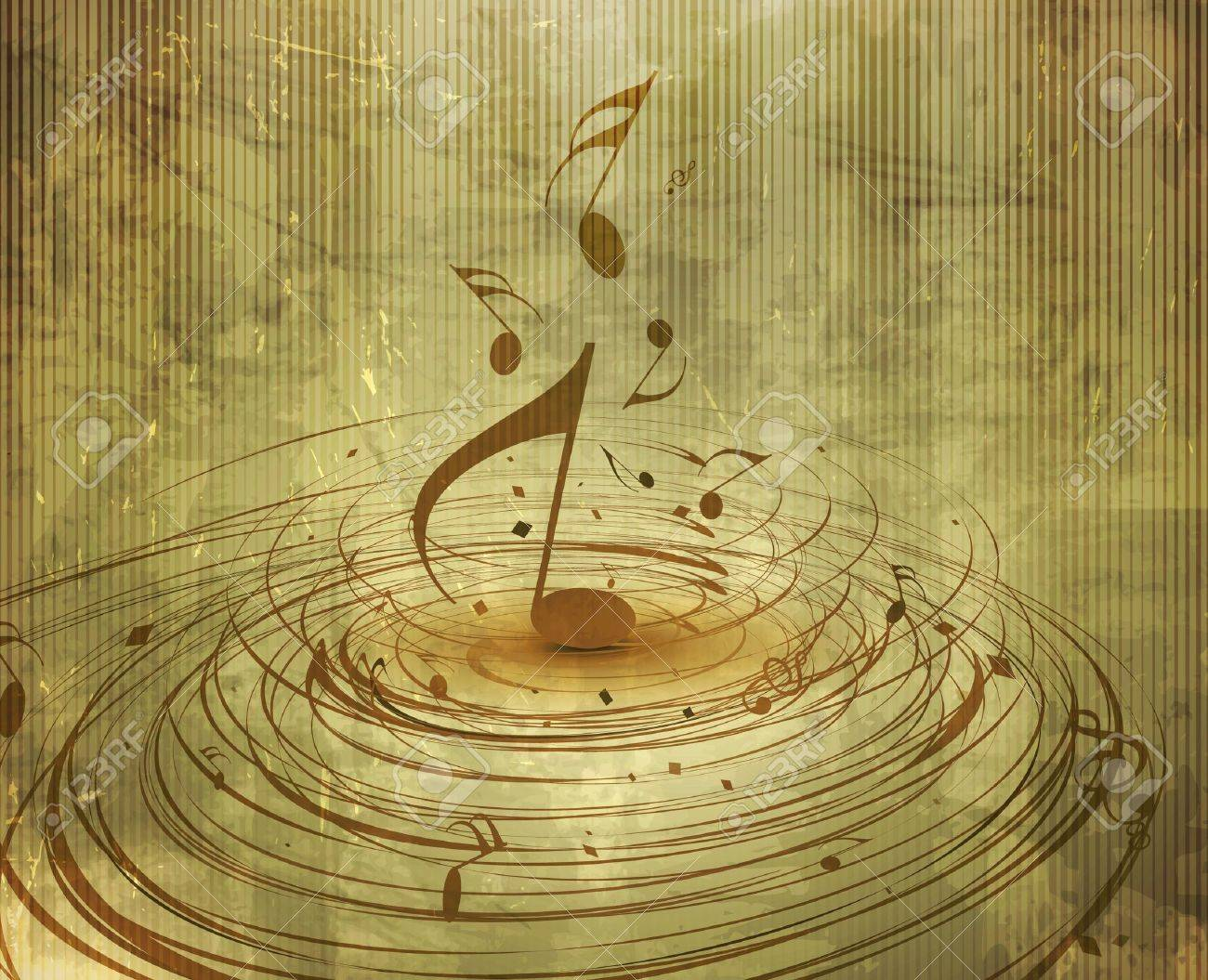 Musical notes staff background on white vector by tassel78 image - Music Background Abstract Texture Background With Music Notes For Design Use Illustration