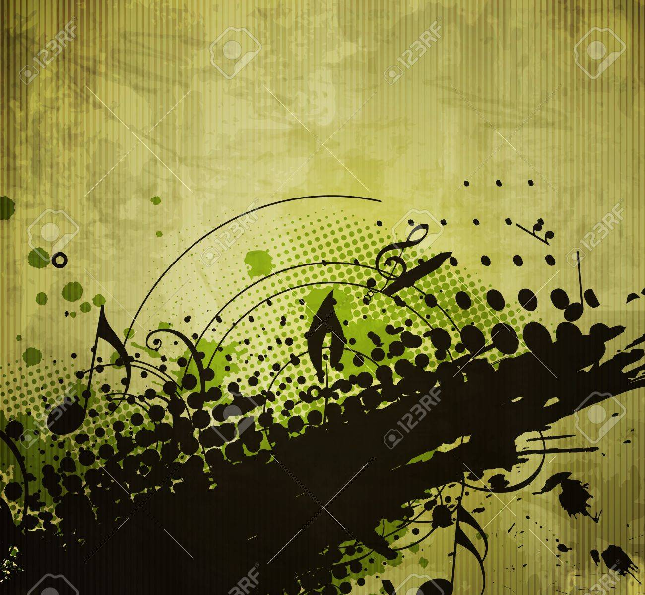 abstract floral & grunge design, vector background Stock Vector - 11218942