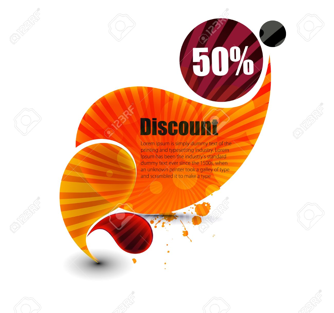 Background image 50 transparent - Vector Vector Discount Banner Transparent Shadow Easy Replace Background