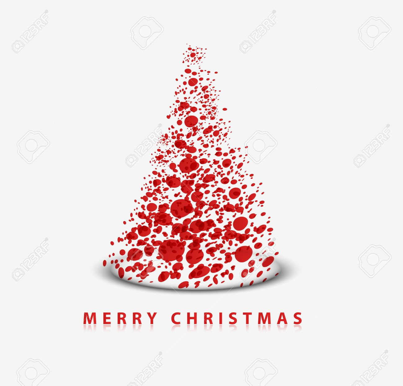 modern abstract christmas tree background, illustration royalty free