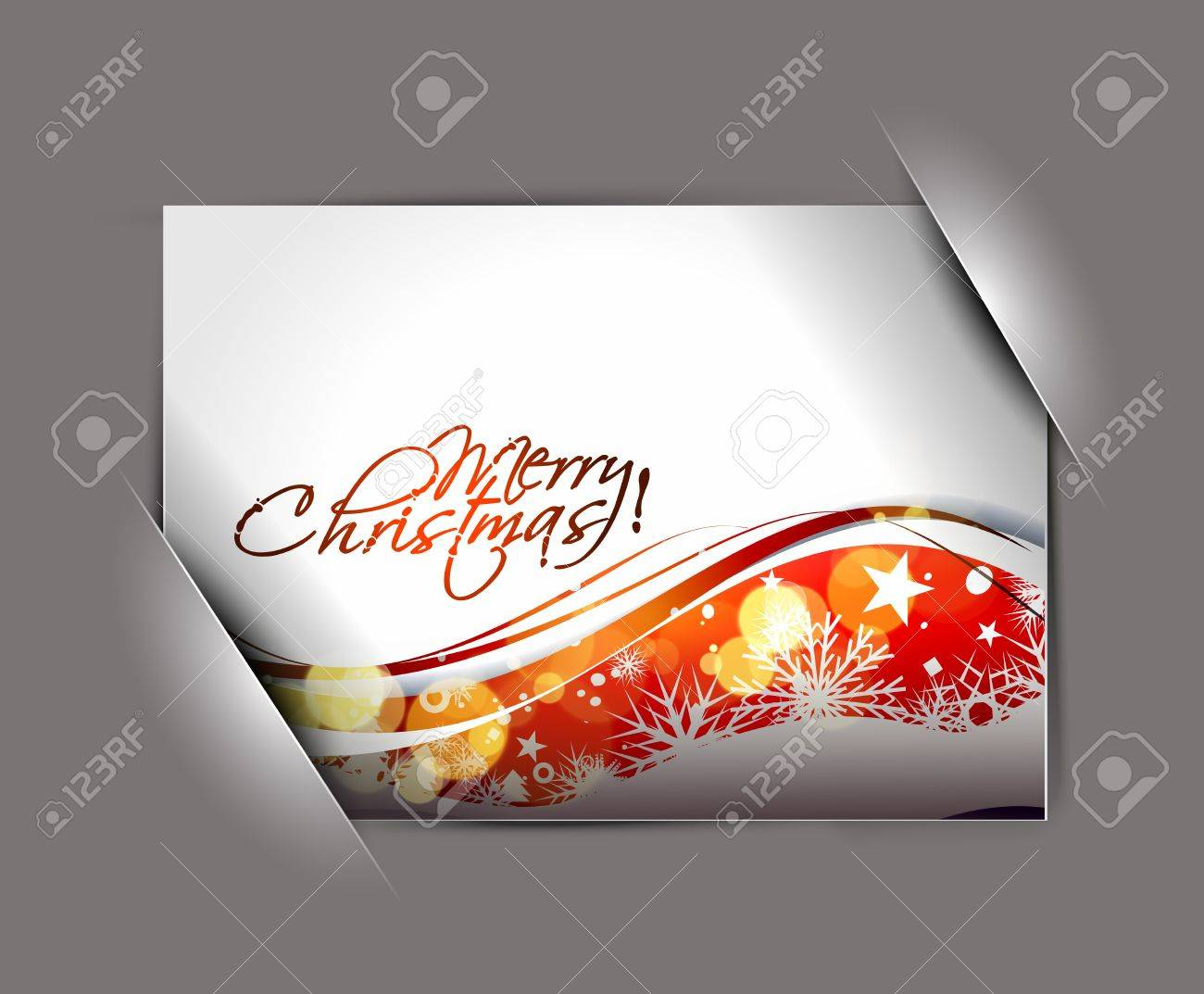 greetings card for holiday with corner curl design, vector illustration Stock Vector - 11579992