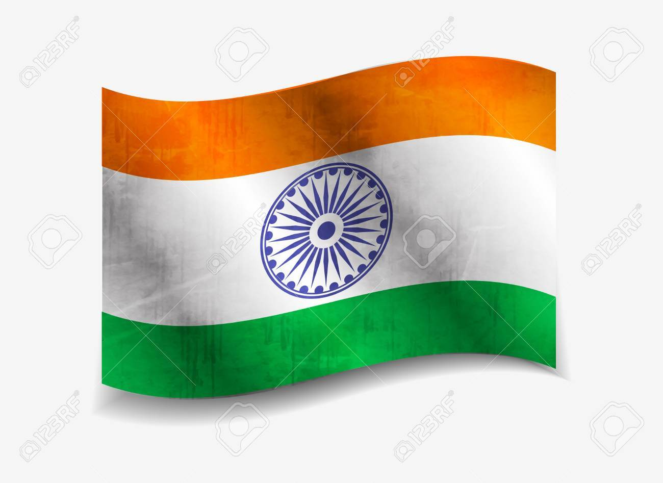india flag design with Event Original, vector illustration Stock Vector - 12125662