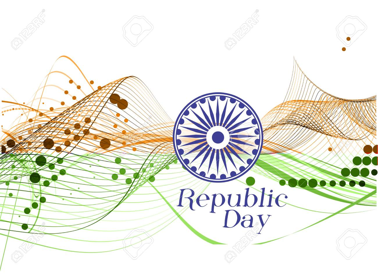 abstract wave of india flag design, vector illustration Stock Vector - 12125698