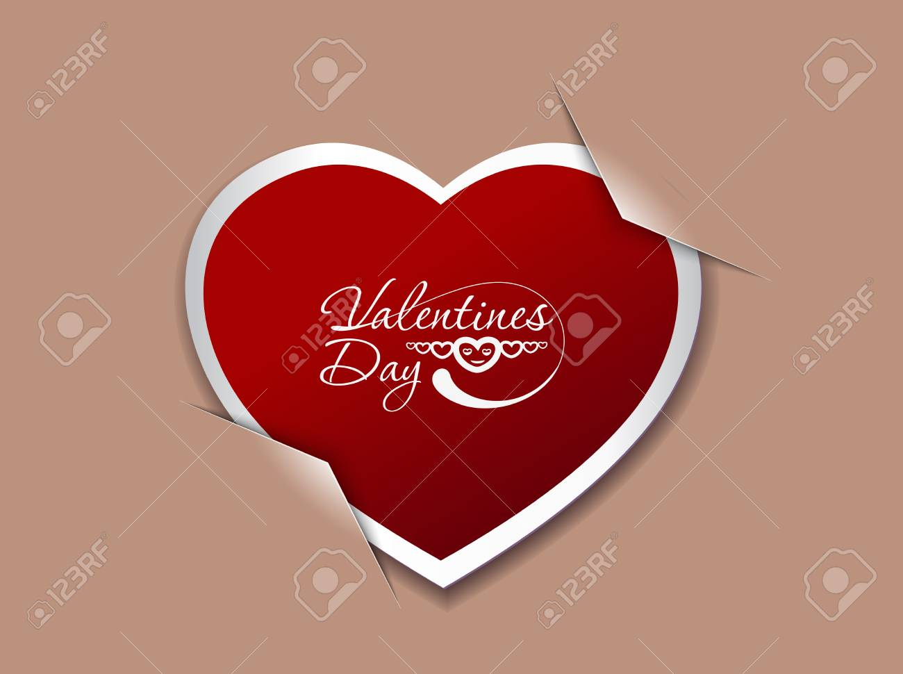 valentine's day background, vector illustration. Stock Vector - 12125585