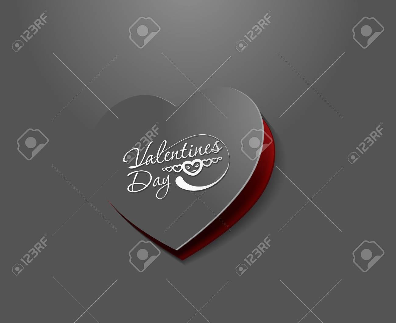 valentine's day background, vector illustration. Stock Vector - 12125612