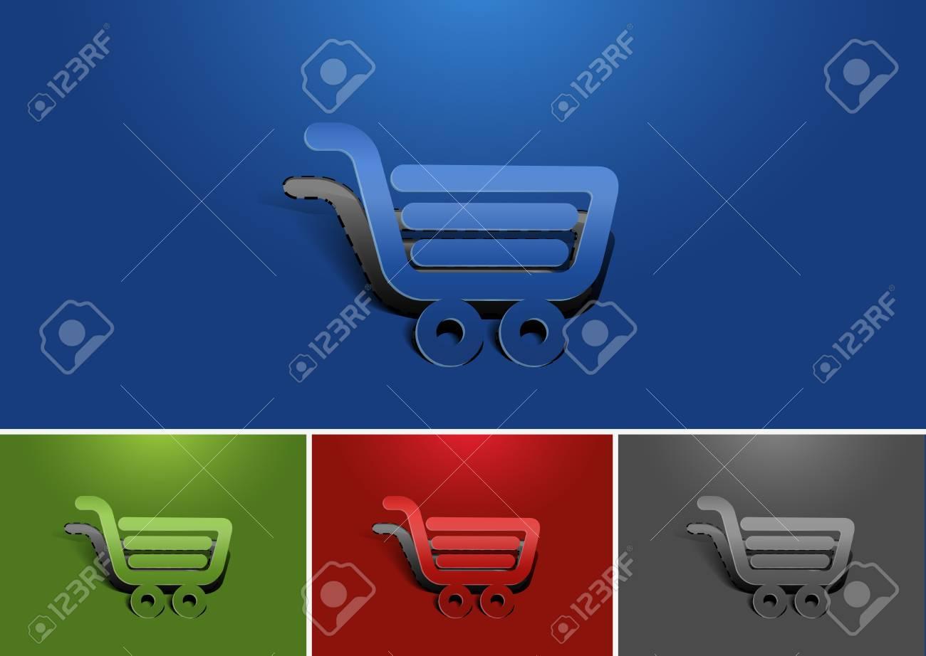 Set of vector web shopping icon design element. Stock Vector - 12283580