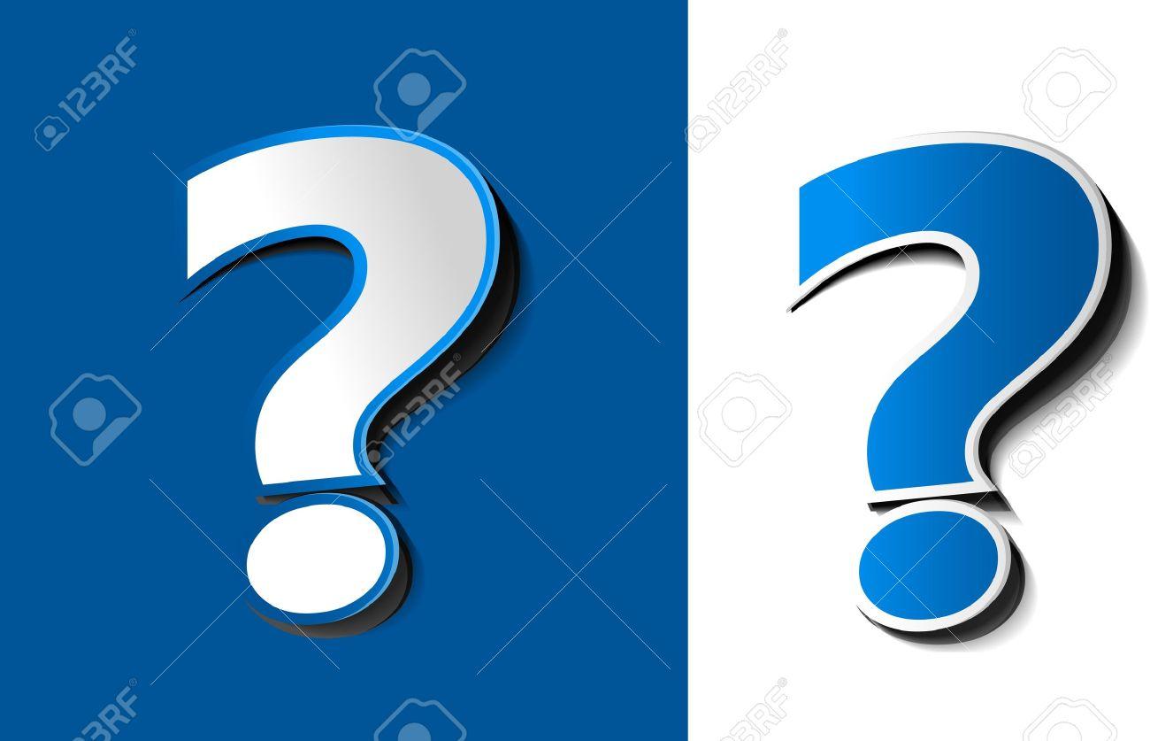 Vector 3d Question Mark Icon Design Royalty Free Cliparts Vectors