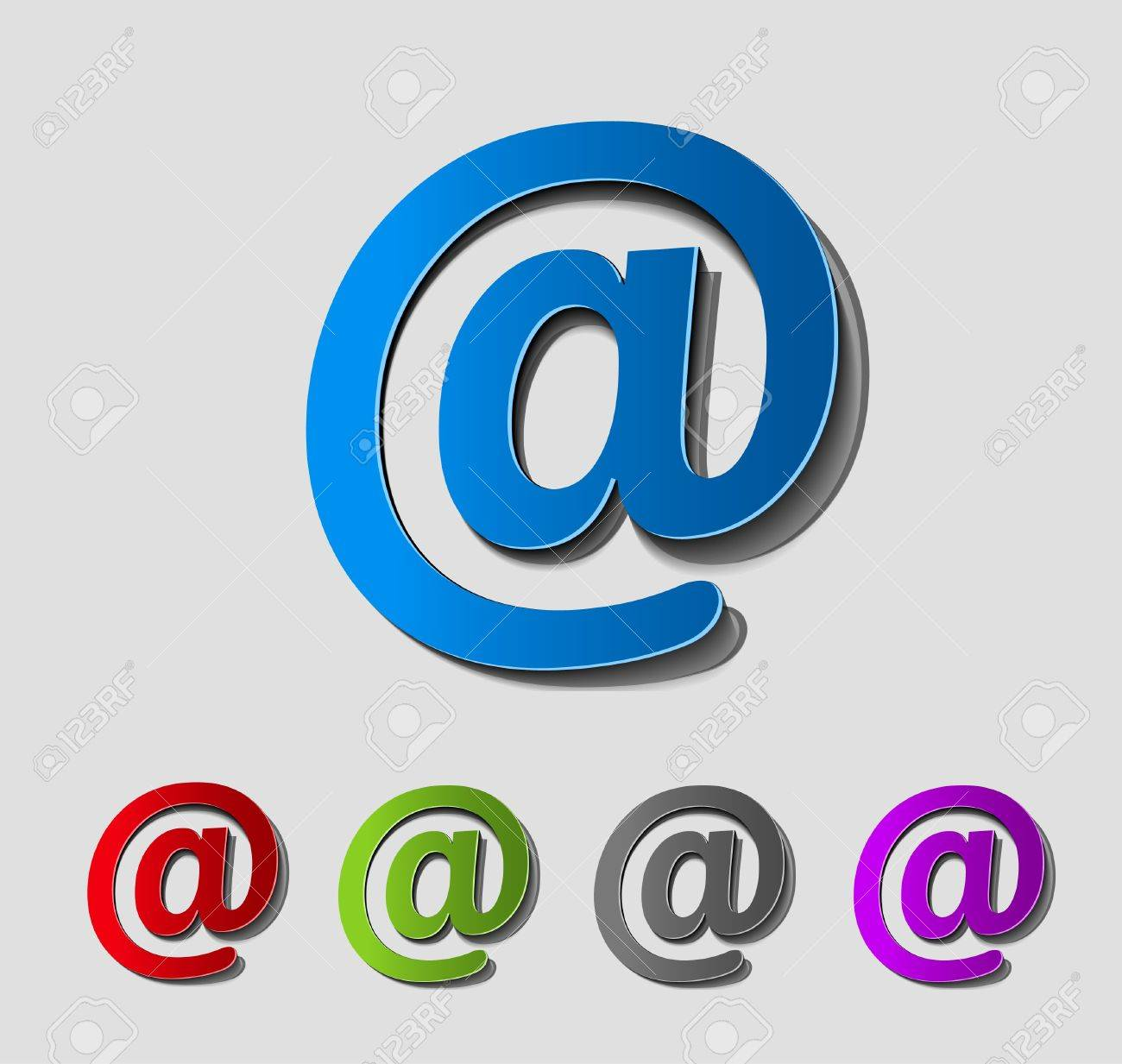 vector email icon web design element. Stock Vector - 12491348