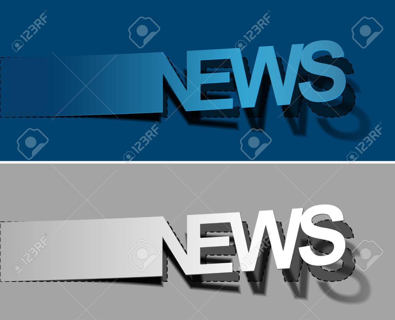 News peel off vector design element Stock Vector - 12491271