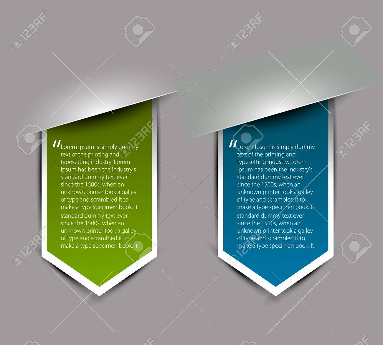 Corners design element isolated On white background, Vector Illustration Stock Vector - 12491795