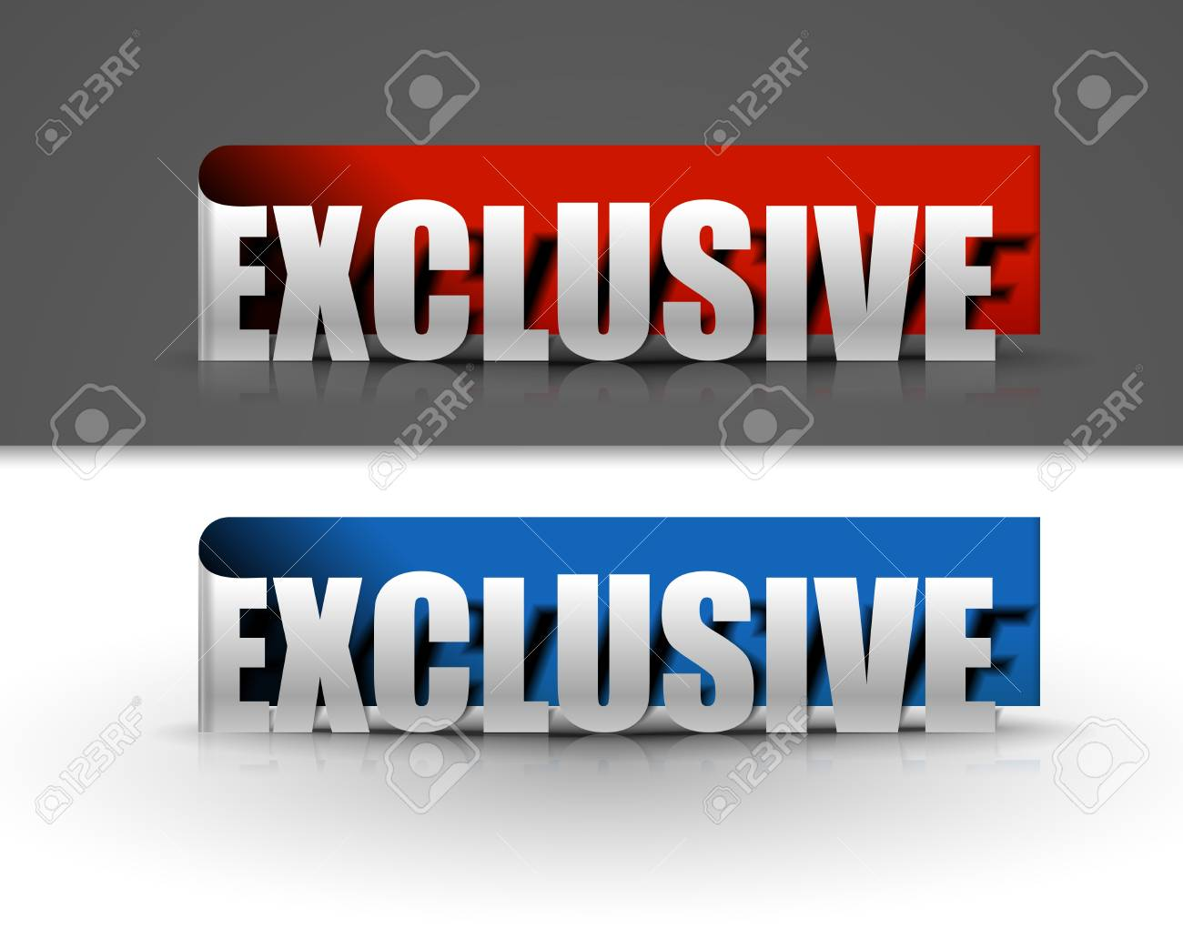 stickers for exclusive design, vector illustration Stock Vector - 12491606