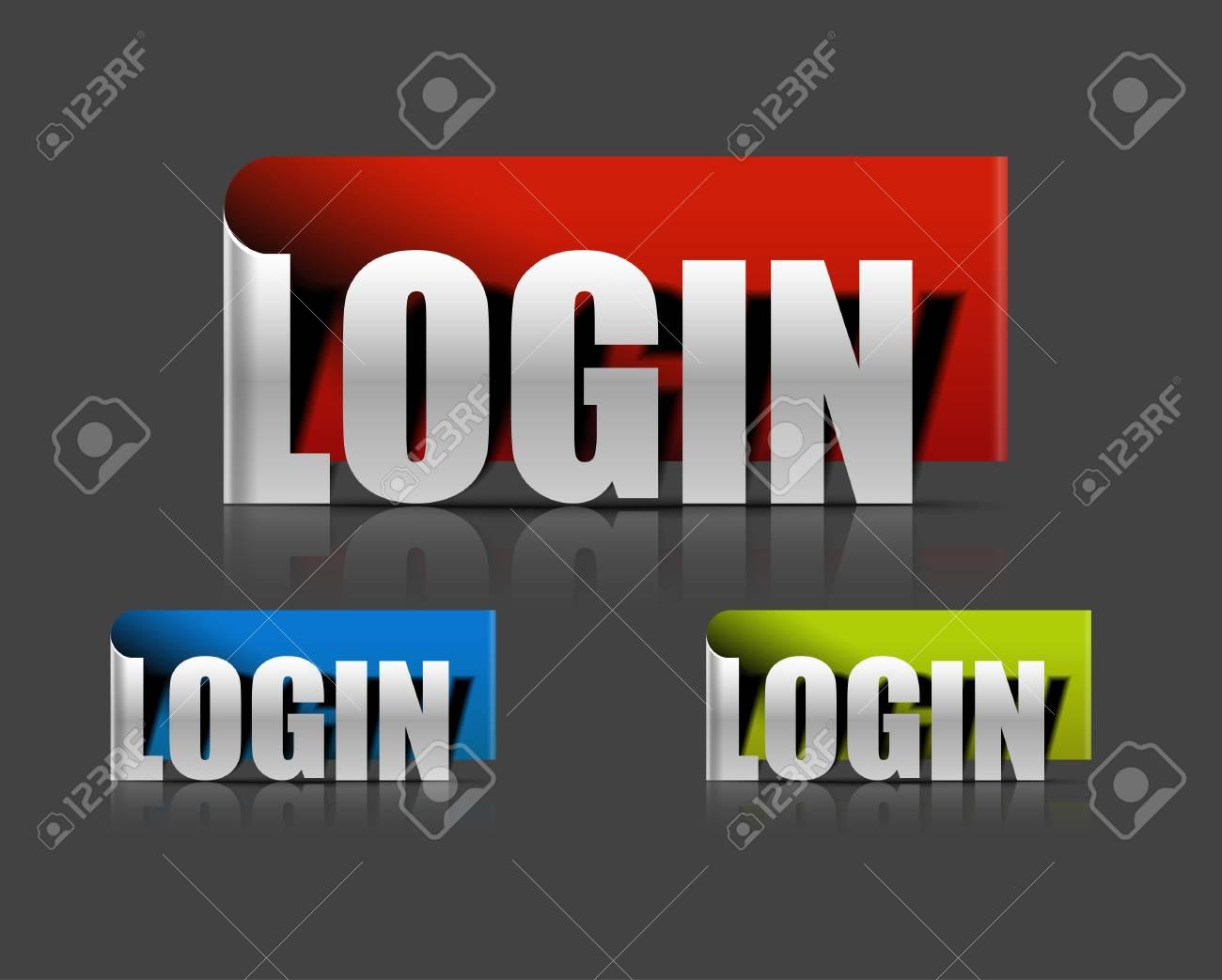 stickers for login design element, vector illustration Stock Vector - 12491404