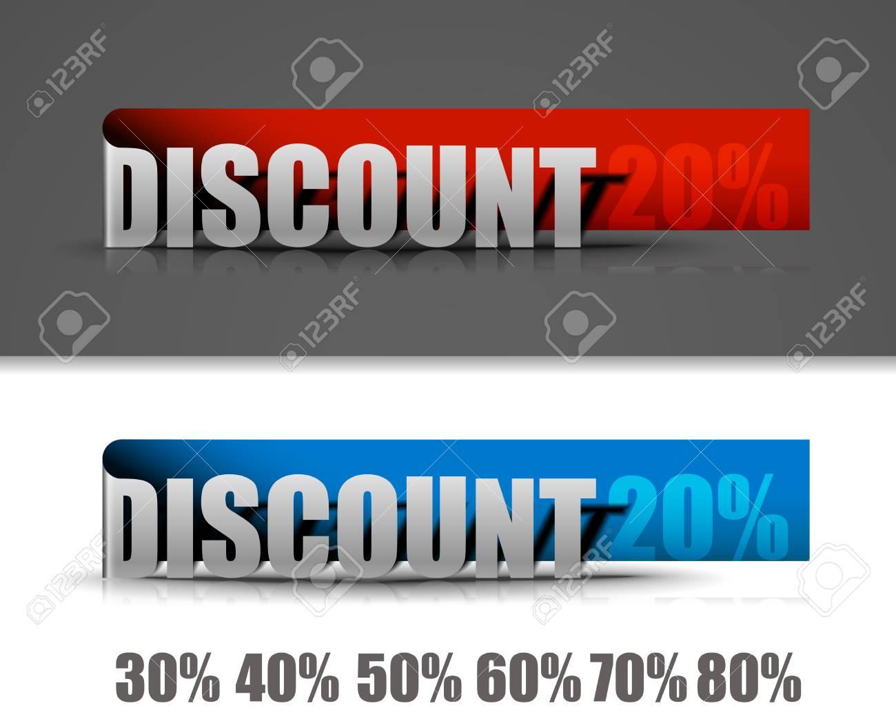 Discount labels design elements. Vector Stock Vector - 12491615