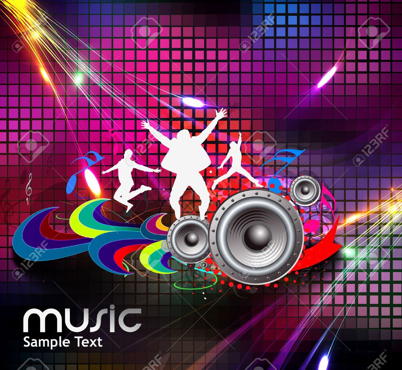 abstract music design for music background use Stock Vector - 14576261