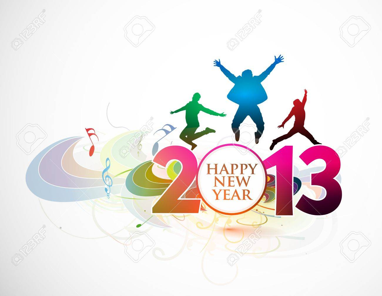 New year 2013 background for new year poster design. Stock Vector - 16108179