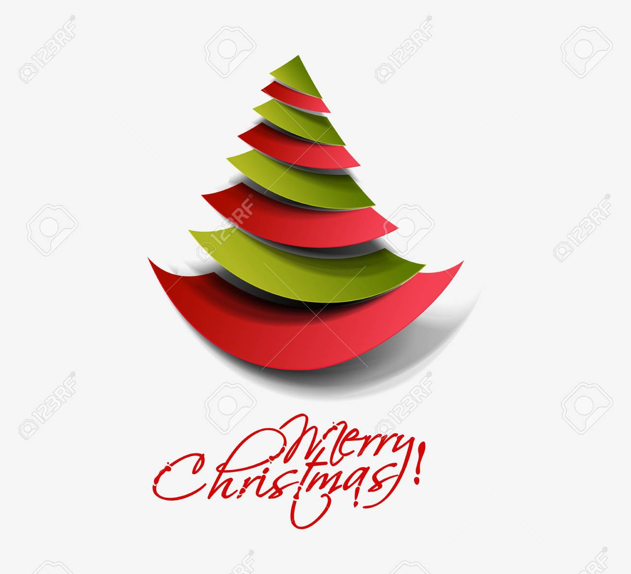 Moderner Weihnachtsbaum.Stock Photo