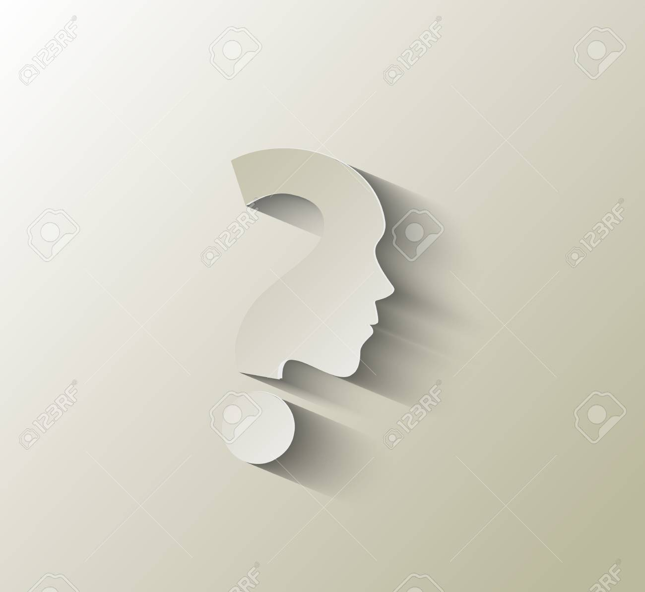 vector symbol of question mark in white background. Stock Vector - 16577533
