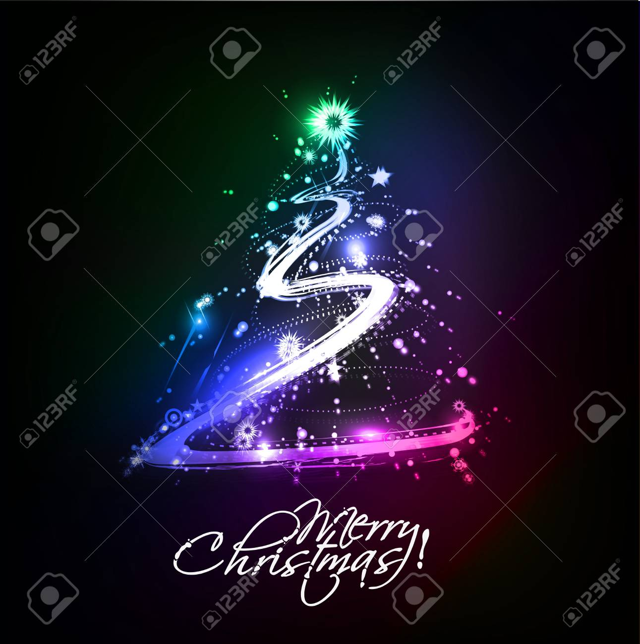 Modern christmas tree background Stock Vector - 16592470