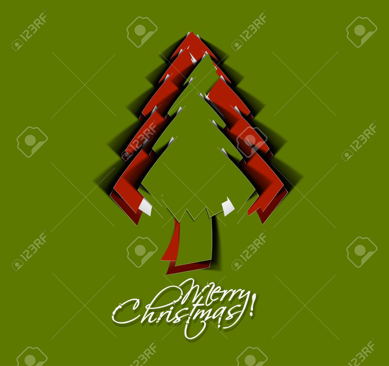 Modern christmas tree background illustration Stock Vector - 16818837