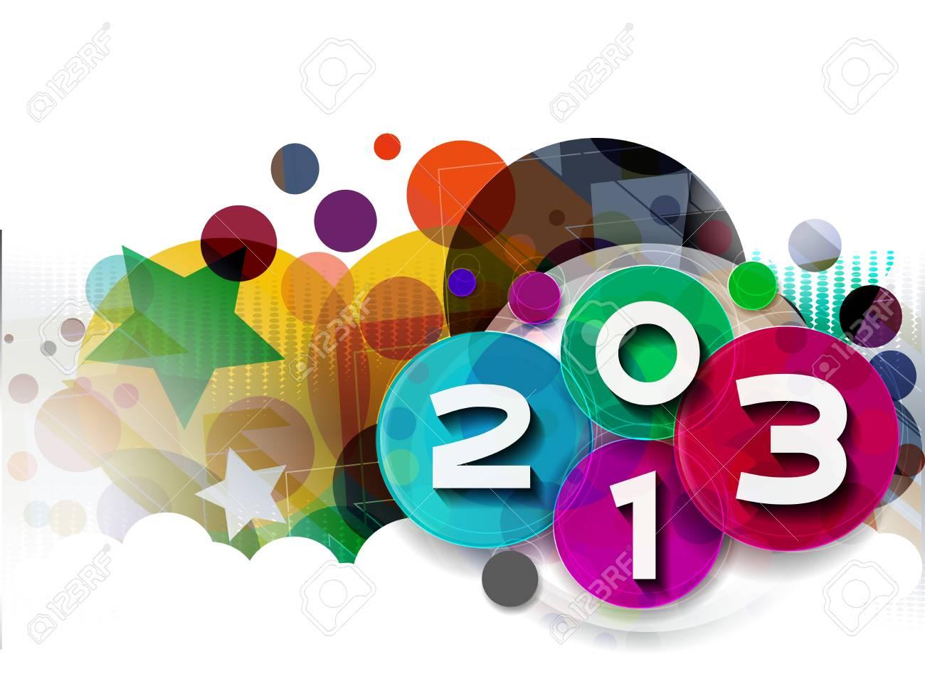 Happy new year 2013 celebration design. Stock Vector - 16818513