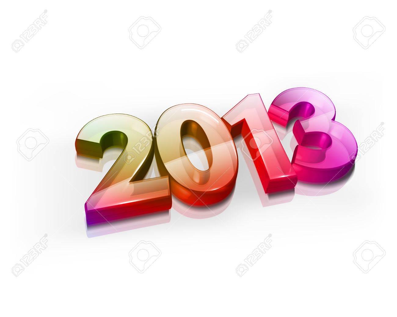 3d Happy new year 2013 celebration illustration design. Stock Vector - 16819091