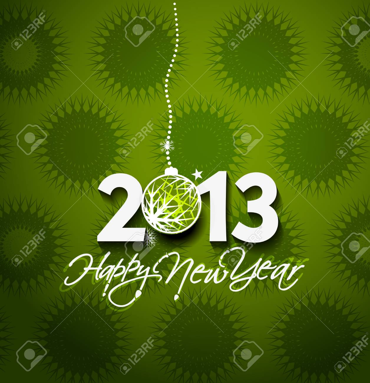 Happy new year 2013 celebration greeting card design. Stock Vector - 16818653
