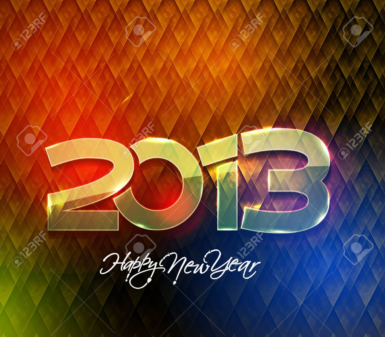 Happy new year 2013 celebration design. Stock Vector - 16818660