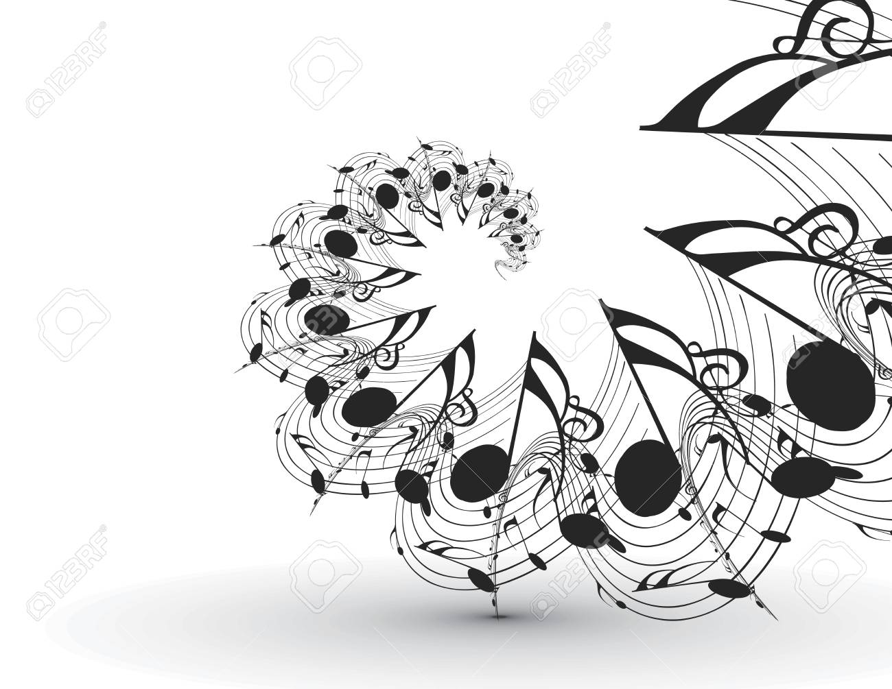 Abstract musical notes background for design use Stock Vector - 23760761