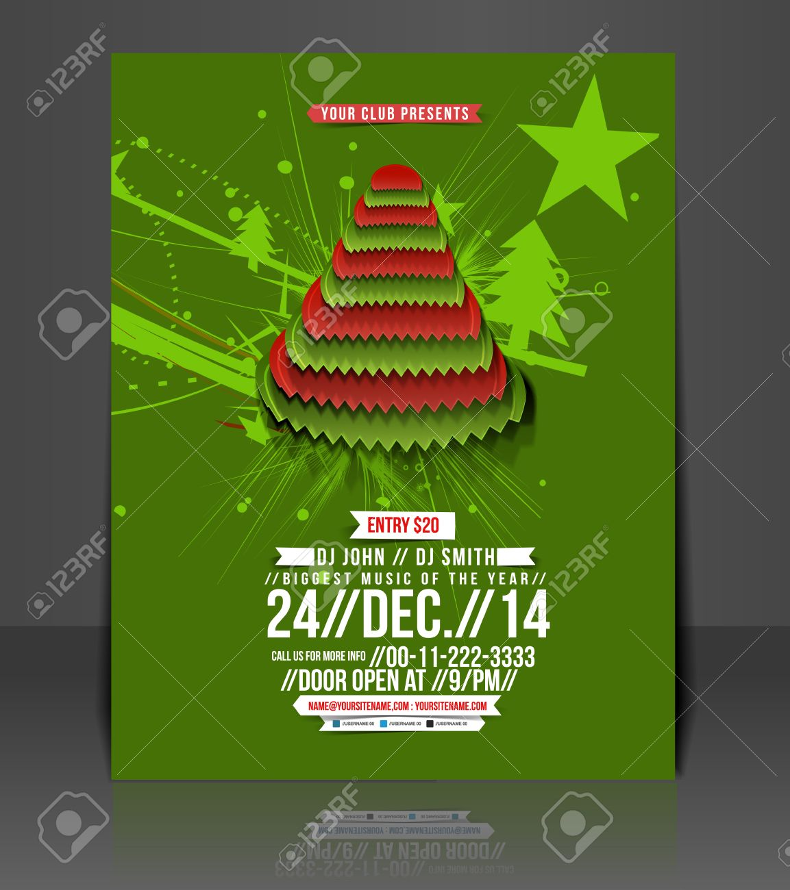 christmas party flyer poster template design royalty christmas party flyer poster template design stock vector 24048549