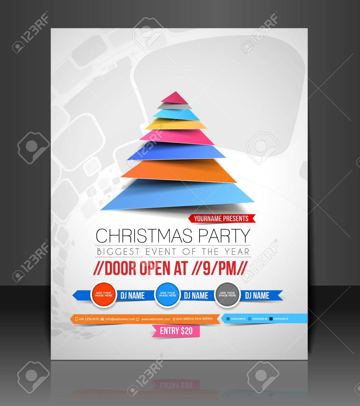 christmas party flyer poster cover template royalty christmas party flyer poster cover template stock vector 24094905