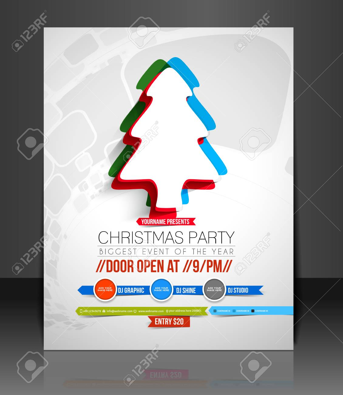 Ausgezeichnet Feiertags Party Flyer Schablone Zeitgenössisch ...