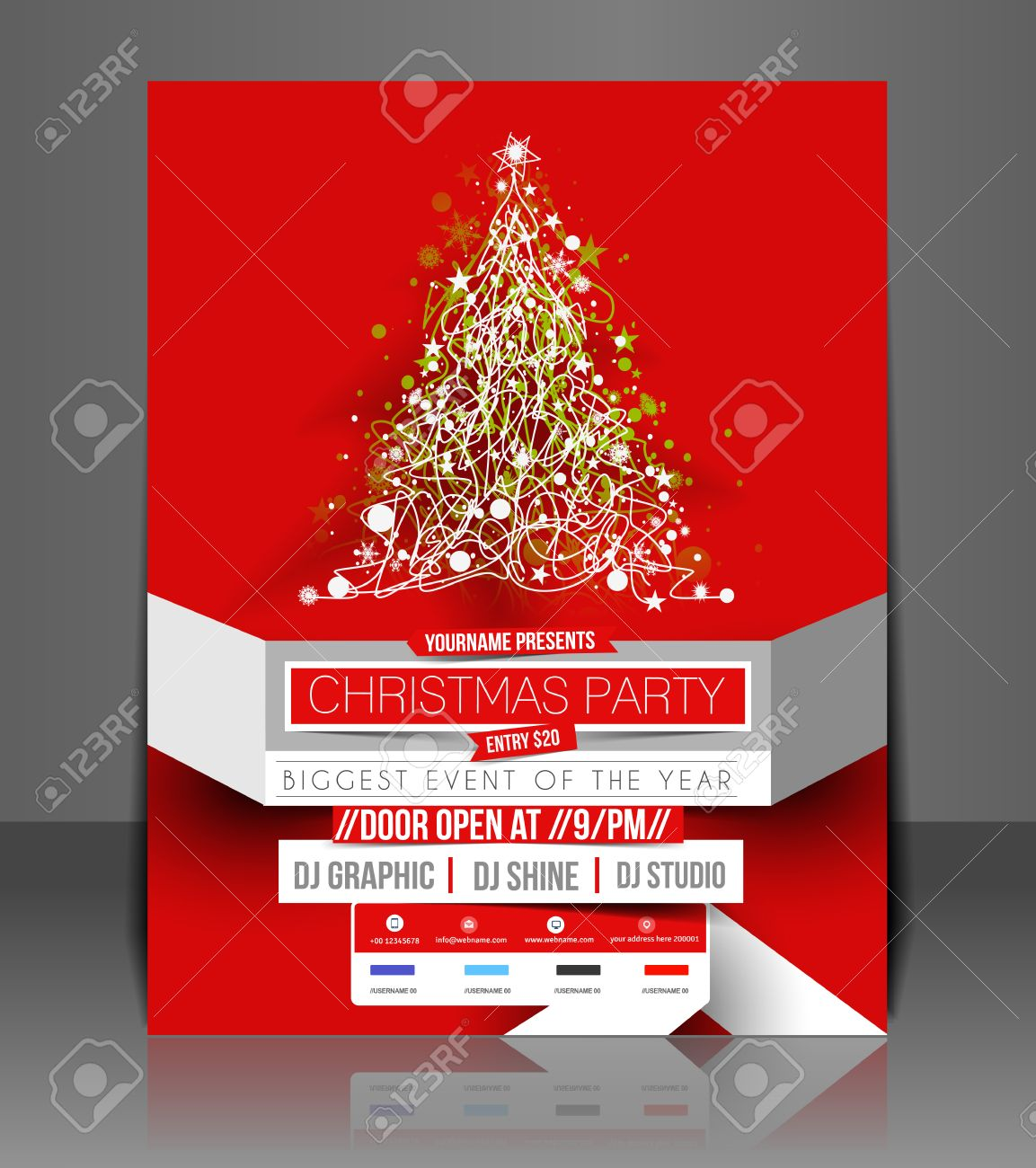 christmas party flyer poster cover template royalty christmas party flyer poster cover template stock vector 24094937