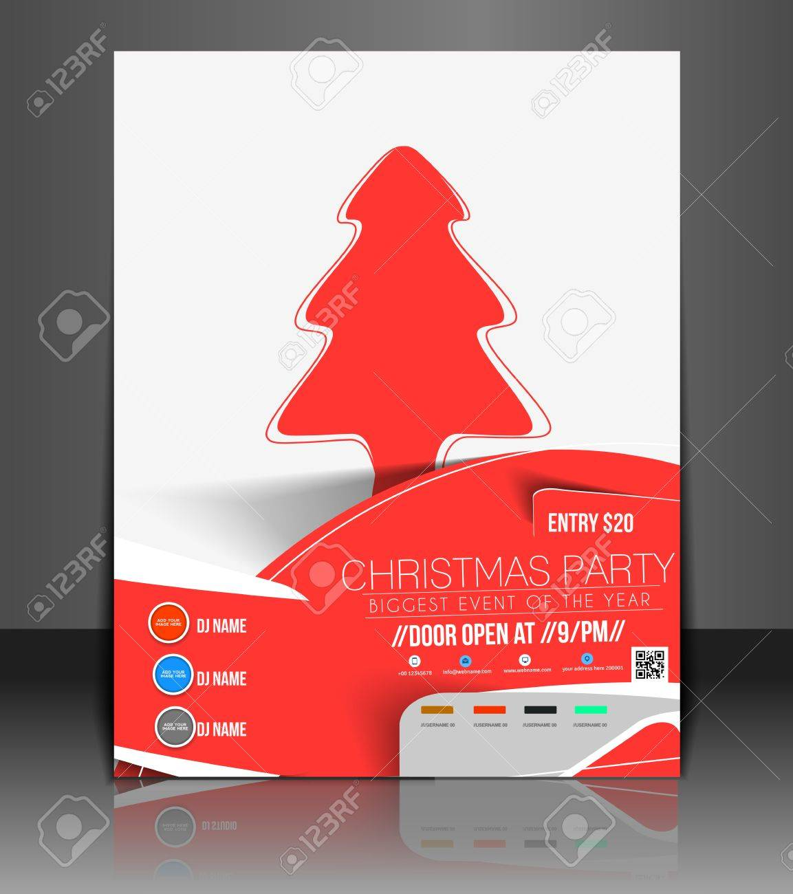 christmas party flyer poster cover template royalty christmas party flyer poster cover template stock vector 24102029