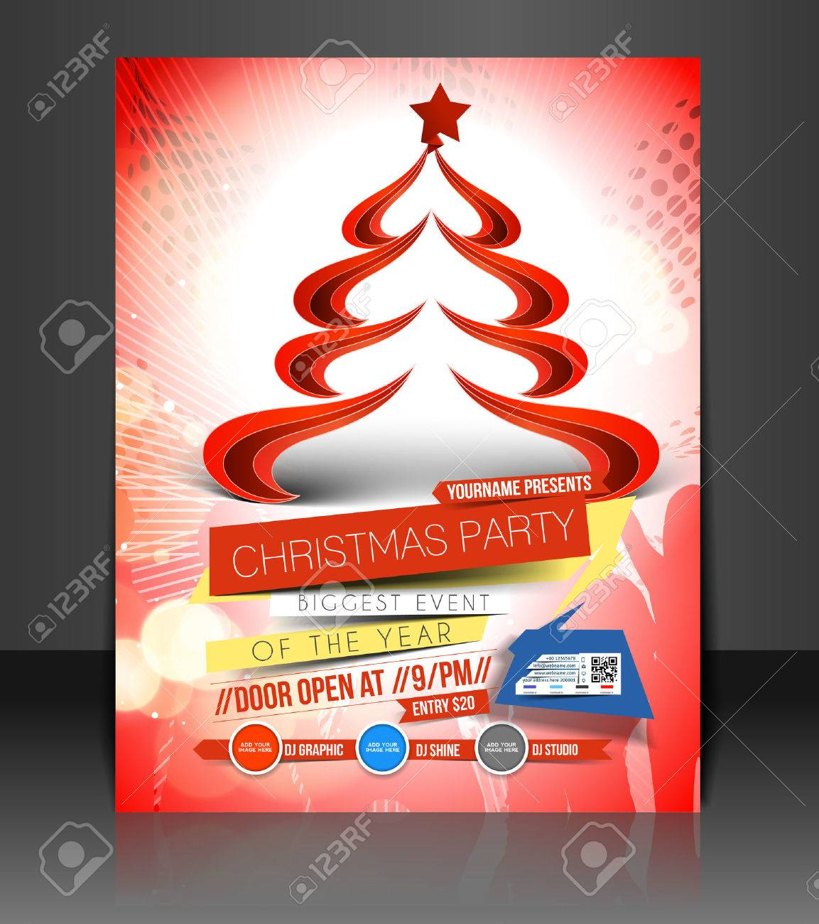 christmas party flyer poster cover template royalty christmas party flyer poster cover template stock vector 24102034