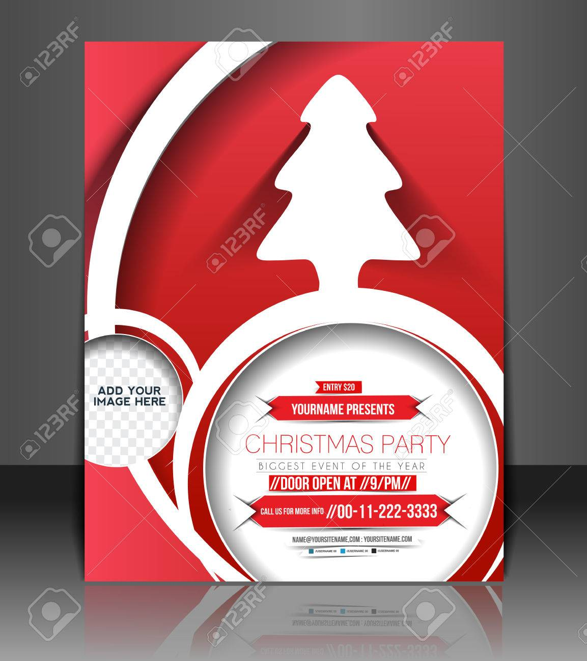 christmas party flyer poster cover template royalty christmas party flyer poster cover template stock vector 24165555