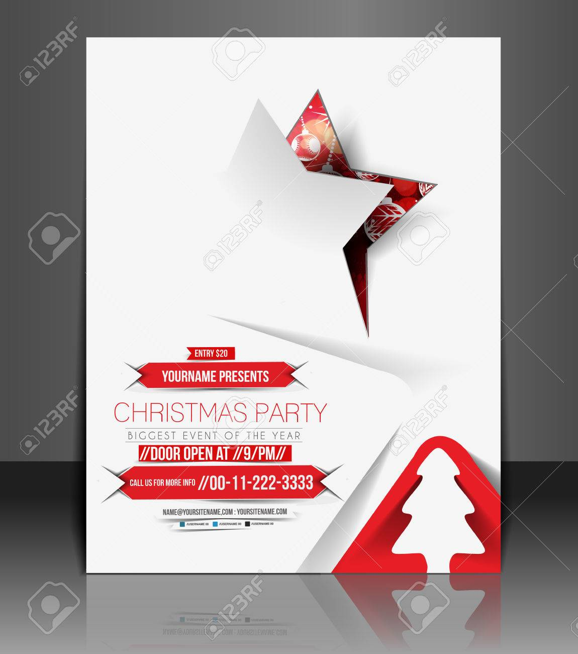 christmas party flyer poster cover template royalty christmas party flyer poster cover template stock vector 24165559