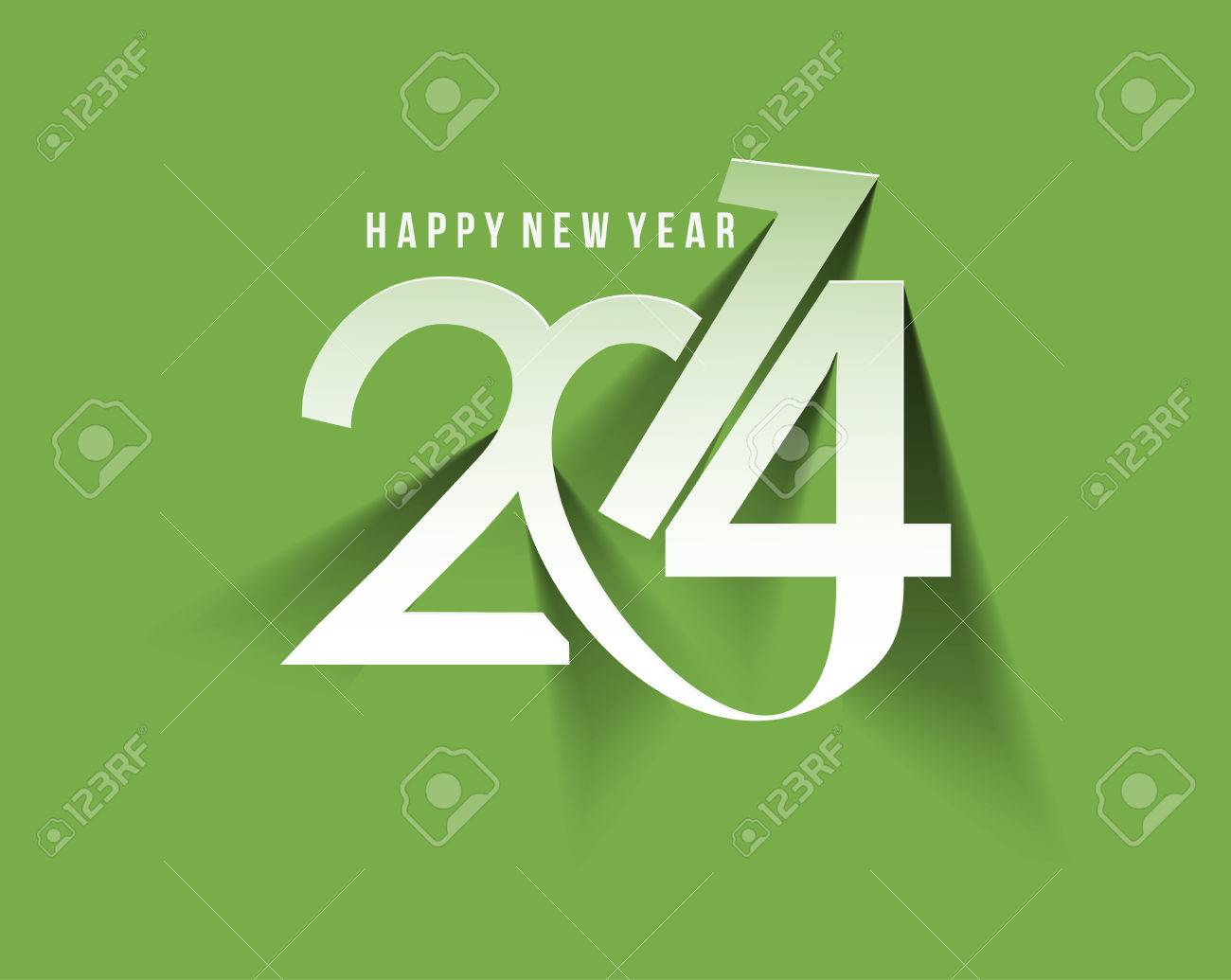 Happy New Year 2014 Text Design Stock Vector - 24190615
